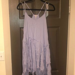 Free people tattered up slip dress